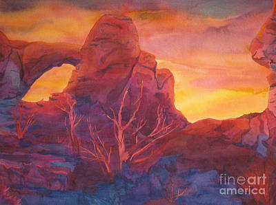 Painting - Coyote Dusk by Vikki Wicks