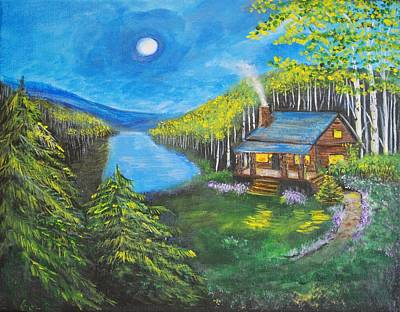 Painting - Cozy Cabin by Leslie Allen