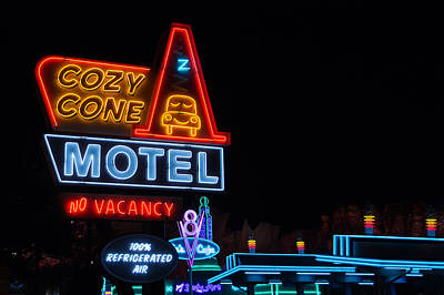 Photograph - Cozy Cone Motel - Cars Land - Disneyland by Heidi Smith