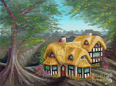 Painting - Cozy Cottage From Arboregal by Dumitru Sandru
