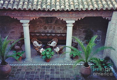 Photograph - Cozy Courtyard by Barbara Plattenburg