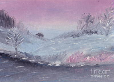 Cozy Winter Twilight Art Print