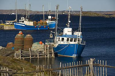 Crab Boats, Change Islands Art Print by John Sylvester