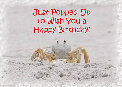 Crab Happy Birthday Art Print