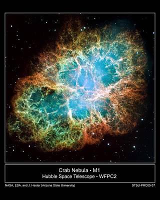 Crab Nebula - Hubble Sapce Telescope Art Print by ilendra Vyas
