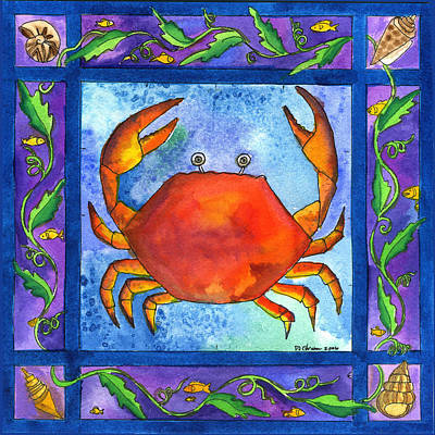 Painting - Crab by Pamela  Corwin
