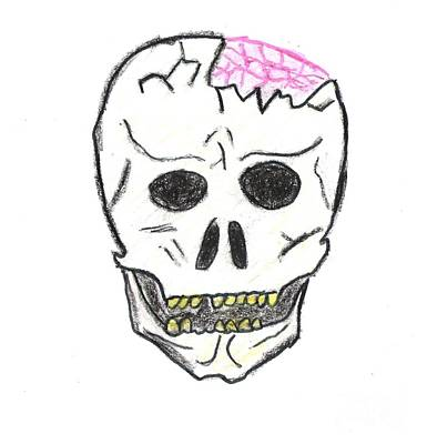 Cracked Skull Art Print by Jeannie Atwater Jordan Allen