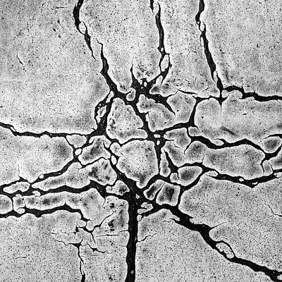 Cracks Art Print by Gerard Hermand