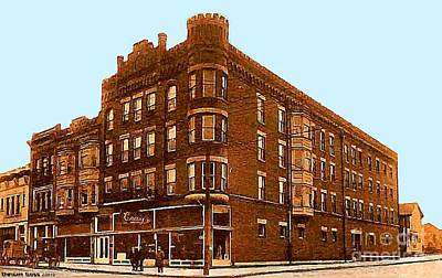 Craig And Sons Department Store In Cambridge Oh Art Print by Dwight Goss