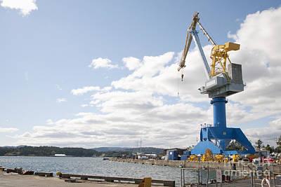 Esquimalt Photograph - Crane At Shipyard by Shannon Fagan