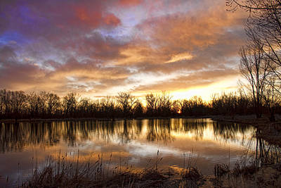 Lake Photograph - Crane Hollow Sunrise Boulder County Colorado by James BO  Insogna