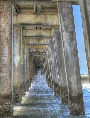 Photograph - Crashing Under The Pier by Sean Allen