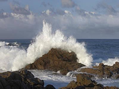 Of Big Sur Beach Photograph - Crashing Waves At Garrapata State Beach by Tim Fitzharris