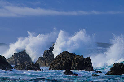 Photograph - Crashing Waves by Connie Cooper-Edwards