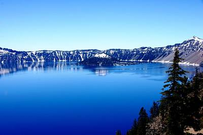 Photograph - Crater Lake From The North by Michael Courtney