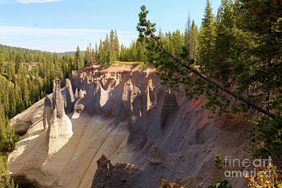 Photograph - Crater Lake Pinnacles by Adam Jewell
