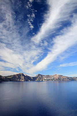 Photograph - Crater Lake Sky by Pierre Leclerc Photography