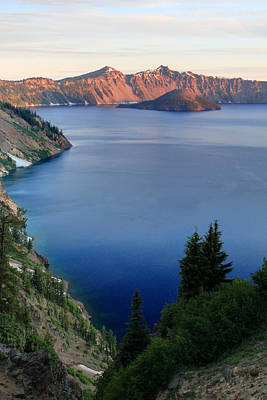 Photograph - Crater Lake Sunrise by Pierre Leclerc Photography
