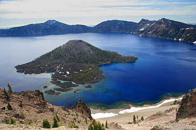 Crater Lake Wizard Island Art Print by Pierre Leclerc Photography