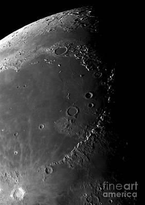 Craters Copernicus, Plato Print by Phillip Jones
