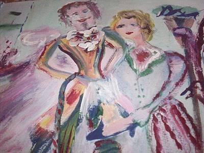 Cravat And Shoe Original by Judith Desrosiers