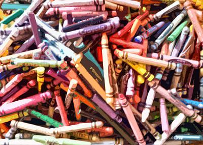 Crayola Art Print by Bernadette Kazmarski