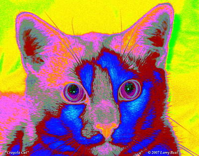Digital Art - Crayola Cat by Larry Beat