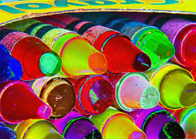 Photograph - crayons retro II by Bill Owen