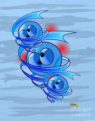 Crazy Blue Eyes Art Print by Rod Seeley