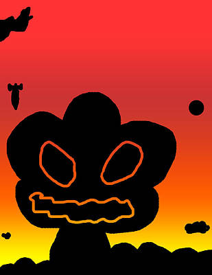 Destruction Digital Art - Crazy Bomb Silhouette by Jera Sky