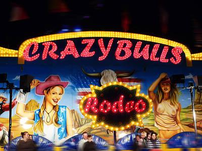 Crazy Bulls Art Print by Charles Stuart