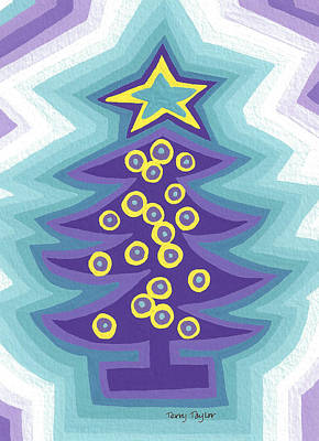 Painting - Crazy Christmas Tree by Terry Taylor