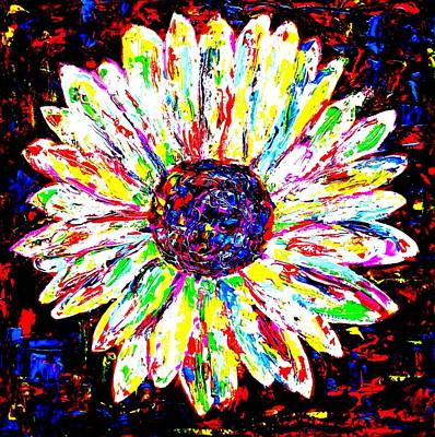 Obriens Painting - Crazy Daisy by Mike OBrien
