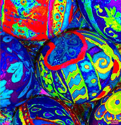 Digital Art - Crazy Eggs by Paula Greenlee