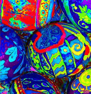 Digital Art - Crazy Eggs by Paula Greenlee