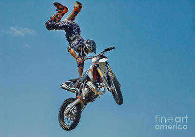 Hollywood Style - Crazy Motorcycle Rider by Andrea Kollo