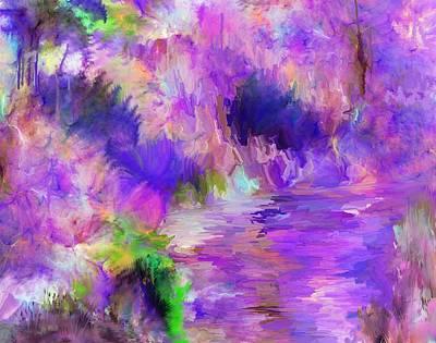 Digital Art - Crazy River by David Lane