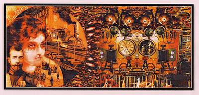 Victorian Death Digital Art - Crazy Train by Janiece Senn
