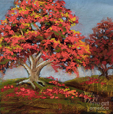 Painting - Crazy Trees by Vic  Mastis