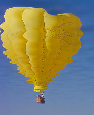 Hot Air Balloon Photograph - Crazy Yellow Balloon by Jerry McElroy