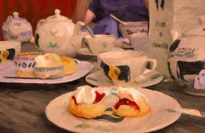 Impressionism Painting - Cream Tea In Launceston by Nop Briex