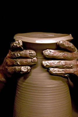 Wheel Thrown Photograph - Creation At The Potter's Wheel by Rob Travis