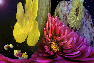 Photograph - Creation Of Florals by Terence Davis
