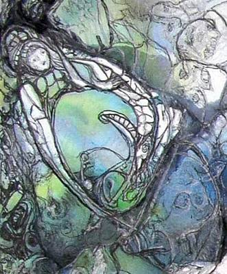 Painting - Creativity Birthing by Anne-D Mejaki - Art About You productions