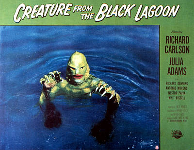 Creature From The Black Lagoon, 1954 Art Print by Everett