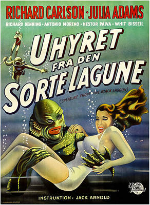 Creature From The Black Lagoon, Aka Art Print by Everett