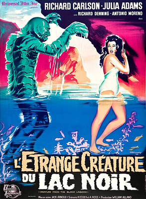 Creature From The Black Lagoon, On Left Art Print