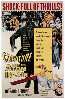 Creature With The Atom Brain, Center Art Print by Everett