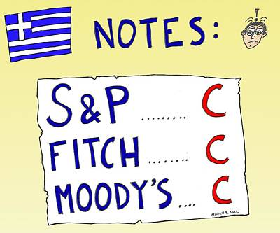 Financial Mixed Media - Credit Ratings C Notes by OptionsClick BlogArt