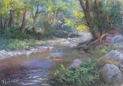 Pastel - Creek Study by Bill Puglisi